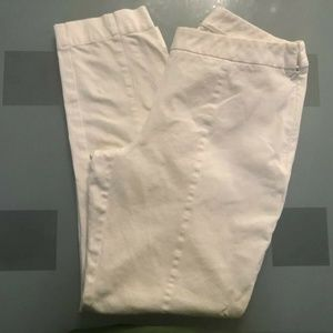 Chicos White Stretch Straight Ankle Jeans SZ 0.5